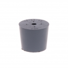 rubber stopper. 1 hole bottom 29,0 top 35,0 height 30mm
