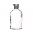 bottle with stopper clear narrow neck