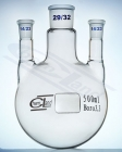 Flask round bottom 3 necks straight