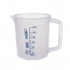 beaker with handle PP blue graduation